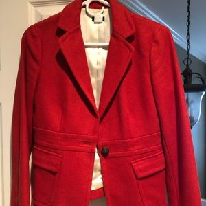 J. Crew Red Wool Blazer, size 4